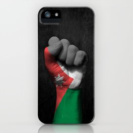 Jordanian Flag on a Raised Clenched Fist iPhone Case