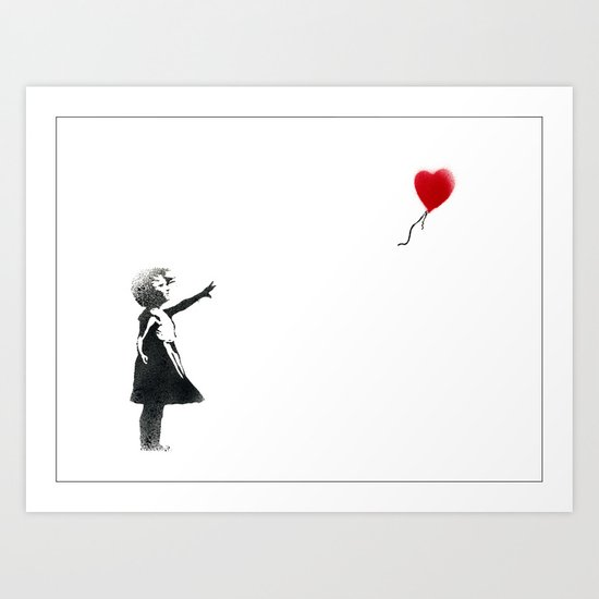 Banksy Heart Balloon Girl Art Print