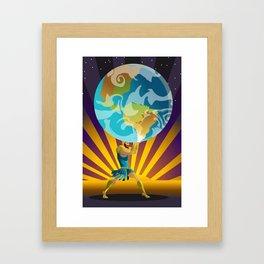 atlas holding the world Framed Art Print