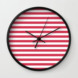 Red white striped Wall Clock