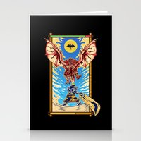 monster hunter Stationery Cards featuring Epic Monster Hunter by MeleeNinja