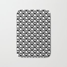 Black and white 2 , cat paw prints Bath Mat