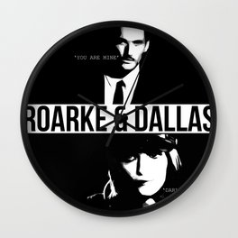 Roarke & Dallas Wall Clock
