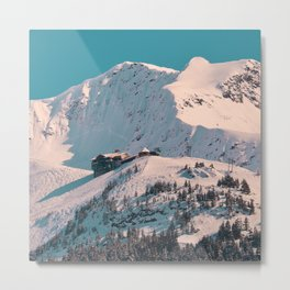 Mt. Alyeska Ski Resort - Alaska Metal Print