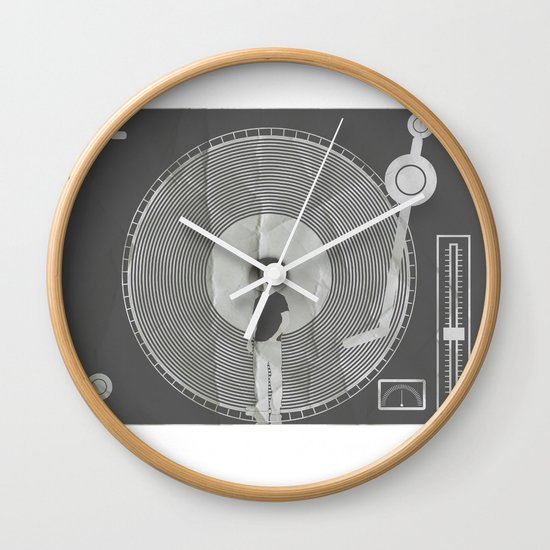 afro deck Wall Clock