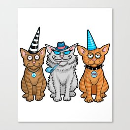 Cat Party Canvas Print