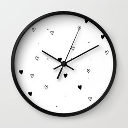 Little Hearts, kids room and nursery deco Wall Clock