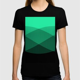 Light Green to Black Ombre Signal T-shirt