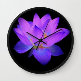 Glowing Water Lily  Wall Clock
