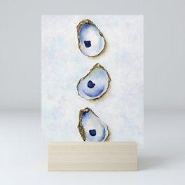 Three Oysters Watercolor by Liz Ligeti Kepler Mini Art Print