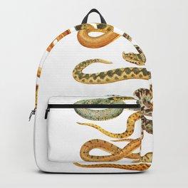 white snakes Backpack
