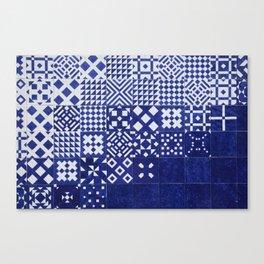tile blue background Canvas Print