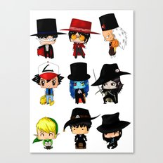 Anime Hatters Canvas Print