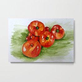 Garden Tomatoes Metal Print