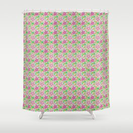 Floral Seamless Pattern Shower Curtain