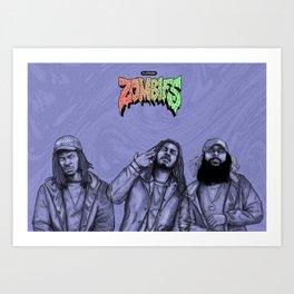 Flatbush ZOMBiES.(alt) Art Print