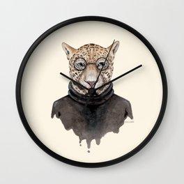 J is for a Jaguar Just Hangin' Out | Watercolor Jaguar Wall Clock
