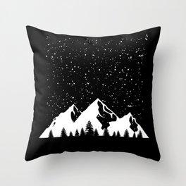 Winter Landscape Winter Motif Mountains Throw Pillow