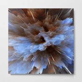 Abstract Explosion Metal Print
