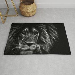 lion.  Black & White Rug