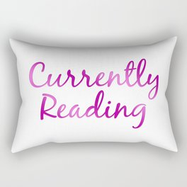 CURRENTLY READING purple and pink Rectangular Pillow