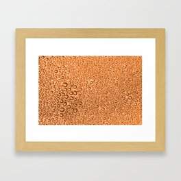 Water Condensation 05 Orange Framed Art Print