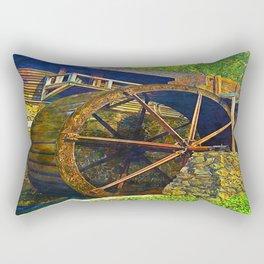 Gristmill Water Wheel Rectangular Pillow