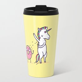 How donuts get sprinkles Travel Mug