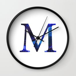 """Initial letter """"M"""" Wall Clock"""