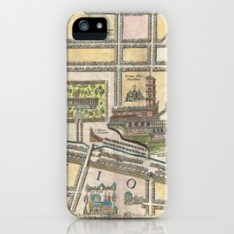 Vintage Map of Jerusalem an Solomon's Temple iPhone Case