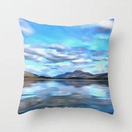 Loch Lomond (Painting) Throw Pillow