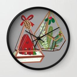 Geometric Terrarium Wall Clock