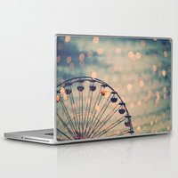 ferris wheel Laptop & iPad Skins featuring Ferris Wheel by Juste Pixx Photography