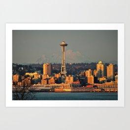 Seattle Space Needle - Sunset Art Print