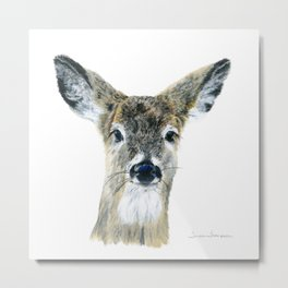 Doe Eyes by Teresa Thompson Metal Print