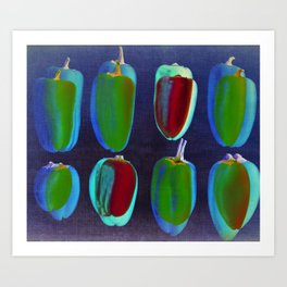 small collors peppers Art Print