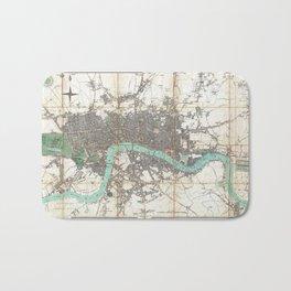 1806 Antique Map of London Bath Mat