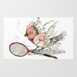 The Wild Badminton Birdie Rug