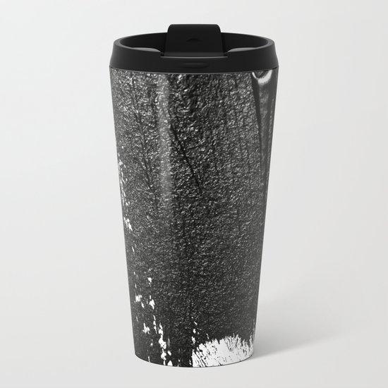 CONFIDENT - black , with no background Metal Travel Mug