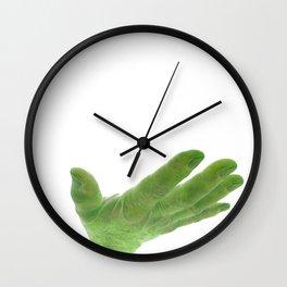 support, green Wall Clock