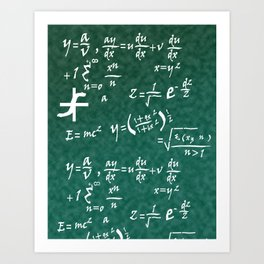 Math Equations Art Print