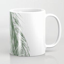 Minimalist modern bohemian sage green palm leaves  Coffee Mug