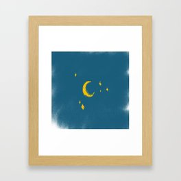 Looking at you Moon Framed Art Print