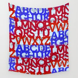 Patriotic ABC Wall Tapestry