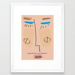 Explaining to Myself Framed Art Print