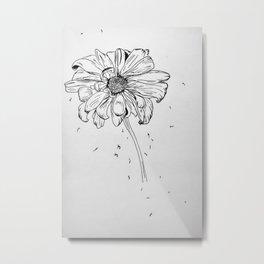 Ink Daisy Metal Print