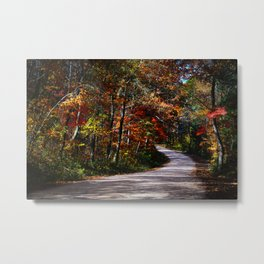 Back Country Road near Lesterville, Missouri in the Fall  Metal Print