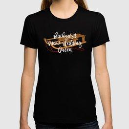 Winter Backyard Snow Sledding Queen T-shirt