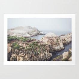 Salt Flats | Misty Foggy Landscape Photography of California Ocean Coast Art Print