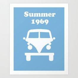 Summer 1969 -  lt. blue Art Print